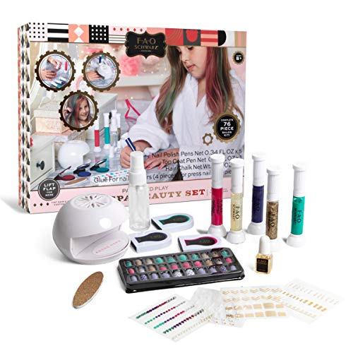 FAO Schwarz 76-Piece Pampered Play Day Spa Beauty Set, Bring The Salon Experience Home for Your Children