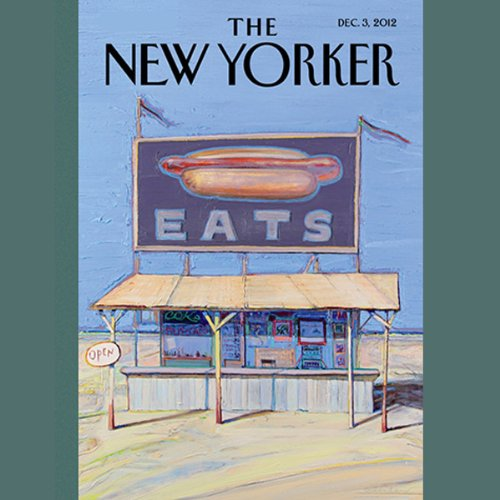 The New Yorker, December 3rd 2012 (Dana Goodyear, Daniyal Mueenuddin, Peter Schjeldahl) cover art