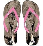 Bestias de chanclas de elefantes–XS, S, M, L, XL–bebé Rosa, color rosa, talla S