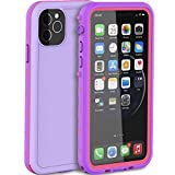LOVE BEIDI iPhone 11 Pro Waterproof case 5.8'', Shockproof iPhone 11 Pro Case with Screen Protector, Full-Body Dust Proof Case for iPhone 11 Pro (Purple/Pink)