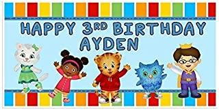 Daniel Tiger Personalized Birthday Banner Party Decoration Backdrop - BLUE