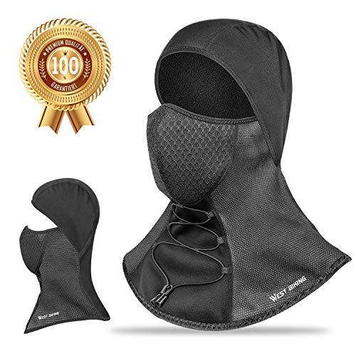 Cagoule d'hiver Masque complet en polyester polaire thermique avec filtre à charbon actif, respirant et coupe-vent, pour cyclisme, moto, snowboard, sports de plein air, homme et femme