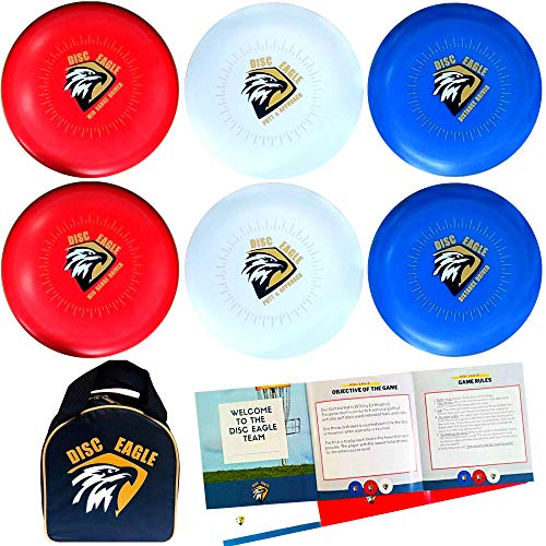Disc Golf Set with 6 Discs, Starter Disc Golf Pack for Beginners with Distance Driver, Mid Range and Putter, Carry Bag for Travel