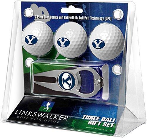 LinksWalker 3Brigham (Young Univ. Cougars-3Ball Geschenk Pack mit Hat Trick Pitchgabel, Weiß, One Size