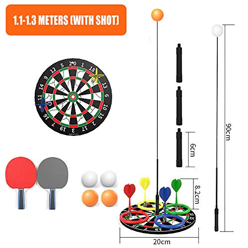 Lowest Prices! WENCY Table Tennis Training Device Height Adjustable Indoor Or Outdoor Play with Elas...