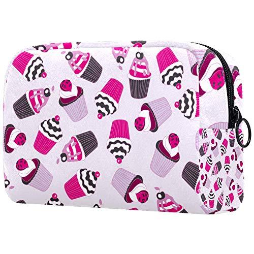 Beau sac à maquillage portable Yummy CupcakeSac à cosmétiques imprimé pour femme