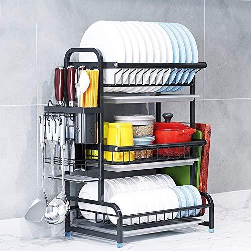 Cocina for guardar objetos, Desague ESCURREPLATOS, cocina estante for platos, acero inoxidable 304 de almacenamiento de cocina Set, Drenar estante encima del lavabo, for lavavajillas rack multifunción