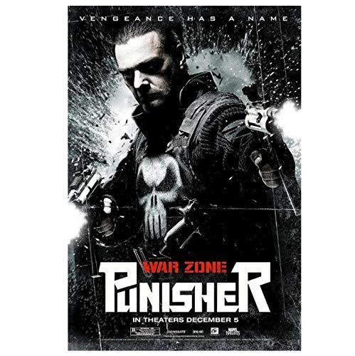 DNJKSA Punisher: War Zone película Impresa en Lienzo Pintura Imagen Arte Cartel Pared Arte Pintura para Sala de Estar decoración del hogar -20x30 en sin Marco