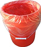 Bucket Liner - Disposable Pail Liner - 5 Gallon Bucket Bag - Brine Bag (25)