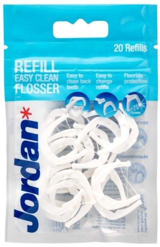 Jordan Easy Clean Flosser Zahnseidenhalter Refill 20 Stück Zahnseiden Wechselköpfe, Ersatzflosser