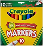 Broad Line Markers, Classic Colors 10 Each (Pack of 20)