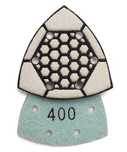 Triangle Dry Diamond Sandpaper 400 Grit Sanding Sheet for Granite Marble Concrete Stone Polishing