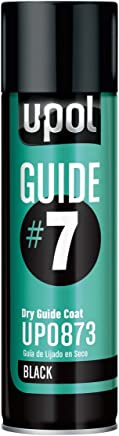 U-POL 0873 Guide#7 Dry Guide Coat, Black, 450 ml Aerosol