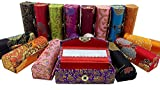 Easybuystore Lipstick Case 3pcs /Set Lipstick Case with Mirror,satin Silky Fabric with Gorgeous Design ,Random Assorted Colors, Jewelry Box