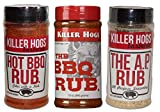 Killer Hogs The BBQ Rub, Hot BBQ Rub, and The A. P. Rub Tri-Pack Set