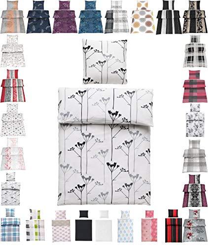 Seersucker Bettwäsche Baumwolle oder Microfaser 135x200 cm, 80x80 cm Bügelfrei Mia Weiss 100% Bauwolle
