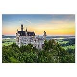 artboxONE Poster 75x50 cm Natur Schloss Neuschwanstein -