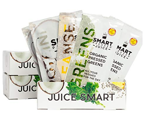 Smart Pressed Juice 3-Day Organic Juice Cleanse | Healthy Weight Loss & Detox Program | Vegan Vanilla Protein, Cold-Pressed Green Juice, Beets Juice & Pineapple Chia Cleanse | High Fiber & Vegan