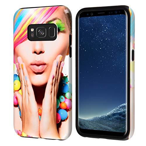 dP deinPhone Samsung Galaxy S8 Plus - Handyhülle - Selbst gestalten/Individuell bedruckbar/eigenem Foto oder Text / 3D Hülle Hardcase mit Silikoneinlage