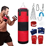 Fansport 11 pcs Saco De Boxeo,Punching Bag Sin Relleno Con G
