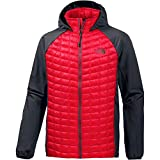 The North Face Thermoball Hybrid Hoodie EU Sudadera, Hombre, Rojo/Gris (TNF Red/Asphalt Grey), 2XL