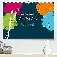 Bastelkalender KREATIV (Premium, hochwertiger DIN A2 Wandkalender 2022, Kunstdruck in Hochglanz): Dieser Bastelkalender bietet viel Raum fuer Ihre Gestaltung! (Monatskalender, 14 Seiten )