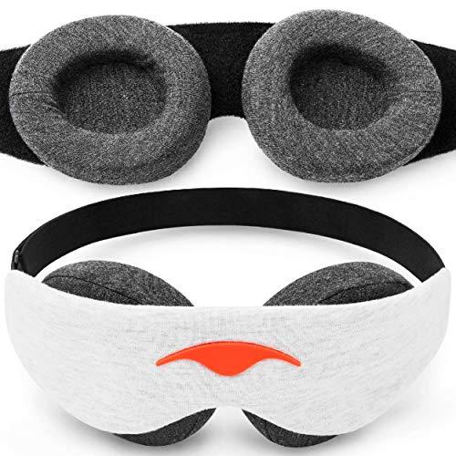 Manta Slim Mask - 100% Blackout Ultra-Lightweight Eye Mask - Slim Comfort Design - Zero Eye Pressure...