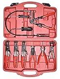 CNWOOAIVE 9 pz Set di Pinze Serrafascette, Pinze per Tubo Flessibile Morsetti Pinza Automotive Tool Kit di Accessori per Auto