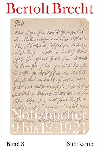 Notizbücher: Band 3: 1921