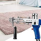 4YANG Máquina de Tejer Alfombras Eléctrica Pistola de Mechones de Alfombras Tufting Gun Tufting Maquina Herramientas para Hacer Alfombras para alfombras de seda/lana/acrílicas 7-21 mm