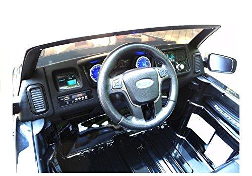 RC Auto kaufen Kinderauto Bild 5: Elektro Kinderauto Elektrisch Ride On Kinderfahrzeug Elektroauto Fernbedienung - Ford Ranger 2-Sitzer - Schwarz*