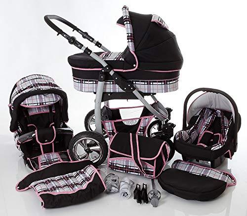 Cochecito de bebe 3 en 1 2 en 1 Trio Isofix silla de paseo D