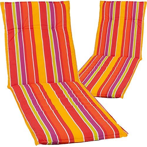 nxtbuy 2X Cojines para Tumbonas Acolchados ' Barcelona' 193x60x6 cm | Relleno De Espuma ÖkoTex100, Diseño:Summer Vibes M317