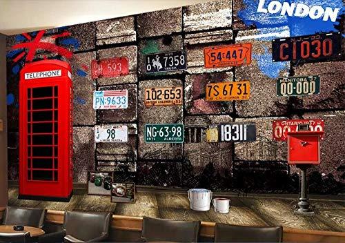 Fototapeten Rote Telefonzelle 400x280 cm Vlies Wand Tapete Wohnzimmer Schlafzimmer Büro Flur Dekoration Wandbilder XXL Moderne Wa.