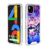 DISNEY COLLECTION Cute Pixel 4a Case (2020 Release) Mickey and Minnie Pattern on Soft Clear TPU Bumper Cover,Slim Fit Protective Phone Case for Pixel 4a 4g Version