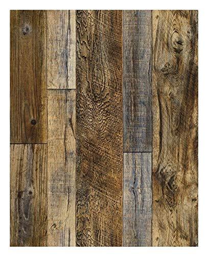 HYCSP Peel and Stick Holz Plank Tapete Shiplap Brown Vinyl Self Adhesive Kontakt Papier Dekorative Wandverkleidung Aufkleber (Color : White, Size : 45x600cm)