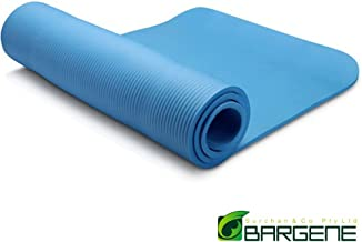 10mm Extra Thick NBR Yoga Mat Gym Pilates Fitness Exercise Balance Board Blue