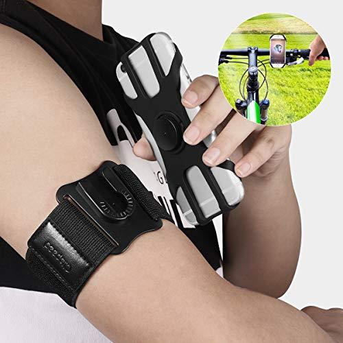 CLISPEED Fitness Handyhalterung Armband mit 360° Drehbar Fahrrad Handyhalter für Sports Laufen, Kompatibel mit Alle 4-6.5 Zoll Smartphones