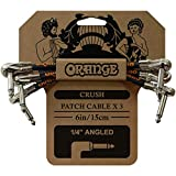 """Orange CRUSH Patch Cable×3 6in/15cm 1/4"""" Angled CA038 ギターパッチケーブル"""