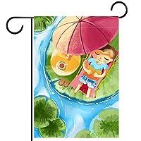 庭の装飾の屋外の印の庭の旗の飾り夏のロータスの池のレジャーの読書 テラスの鉢植えのデッキのため
