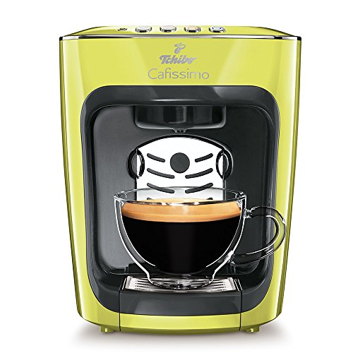 Tchibo Cafissimo mini Kaffeekapselmaschine (für Kaffee, Espresso, Caffé Crema und Tee) gelb