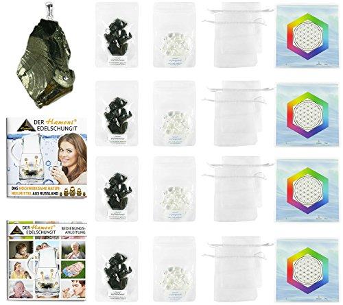 Hamoni® Wasserset Ultra: Thermisch Aktivierter Edelschungit für selbstgemachtes Edelschungit-Wasser. Hochwirksamer Wasserfilter und Russisches Naturheilmittel.