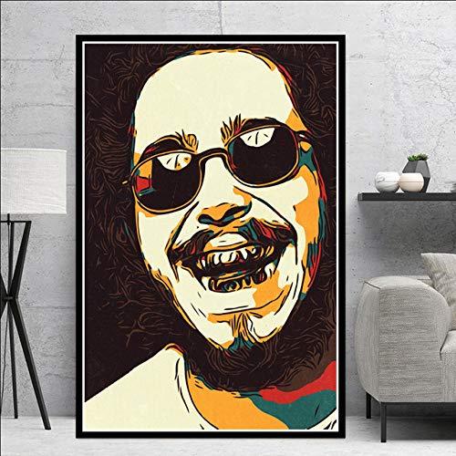 SQSHBBCRapper Hip Hop cantante di Musica Star Art Pittura Poster e Stampe su Tela Immagini a Parete per Soggiornocomplementi arredo casa a9 50x70 cmSenza Cornice