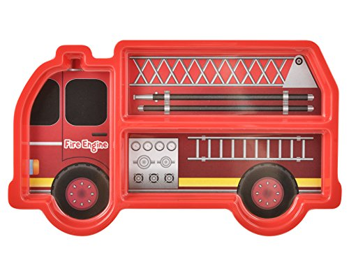 Lulabi Disney 0069792Plato de melamina, diseño de camión, con compartimentos