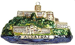 California San Francisco Alcatraz Prison Landmark Polish Glass Christmas Ornament Souvenir