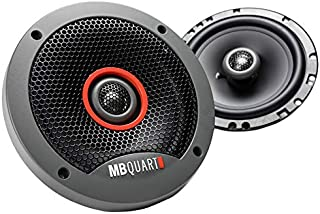 MB Quart FKB116 Formula Car Speakers (Black, Pair) – 6.5 Inch Coaxial Speakers, 60 Watt, 3-Way Car Audio, Internal Crossov...