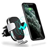 Modohe Cargador Inalambrico Coche, QI 10W Cargador Movil Carga Rapida Wireless Car Charger Soporte Movil Coche para iPhone 11 Pro Max/Xs/Samsung Note 10/S10/S9/Note 9/ Huawei P30 Pro/Mate 30Pro/xiaomi