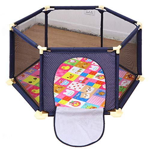 JFFFFWI Adorable Safety Play Center Yard Playpens Baby Fence Mattresses Toddler Crawl Mat Carpet Safety Play Yard Area Gate Castle Infant Barrier Ball Pits Household Shatter Resistant Toys