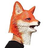 PartyHop Novedad Halloween Disfraz Fiesta Animales Cabeza Triceratops de máscaras de Dinosaurios Zorro