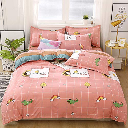 unknow Sheets, Four-Piece Solid Color Bedding Set, Three-Piece Sanded Bed Linen, Cartoon Comfortable Sheets For Children